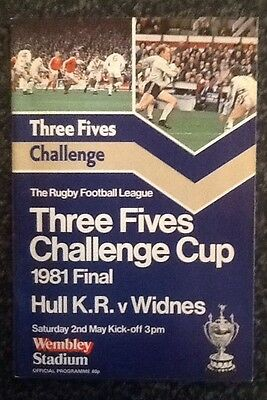 Three Fives Challenge Cup 1981 Final Rugby League Programme