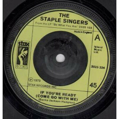 "STAPLE SINGERS If You're Ready 7"" VINYL UK Stax B/W Touch A Hand Make A Friend"