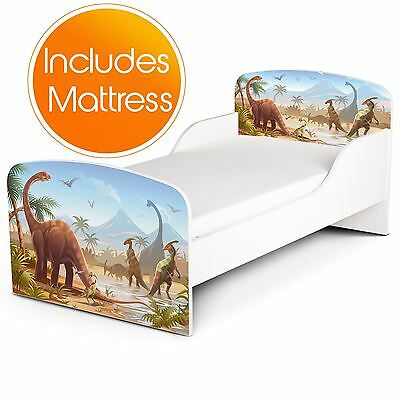 Price Right Home Jurassic Dinosaurs Toddler Bed Plus Foam Mattress