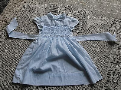 VINTAGE POLLY FLINDERS HAND SMOCKED GIRLS Dress Size 5