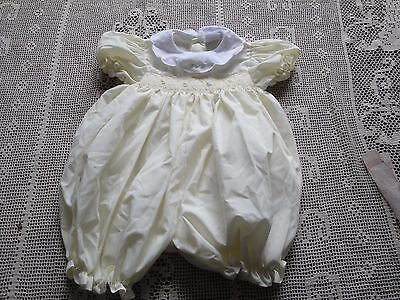 Vintage PETIT AMI Girls Yellow Hand Smocked Bubble Romper 9 Mo Nice Condition