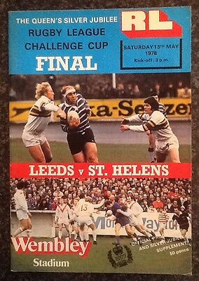 Rl Challenge Cup 1978 Final Rugby League Programme