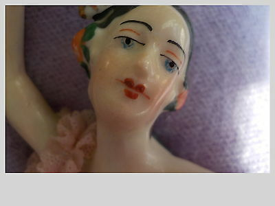 Antique FLAMENCO  DRESDEN  LACE  GERMANY FIGURINE  WILHELM  RITTIRSCH   VOLKSTED