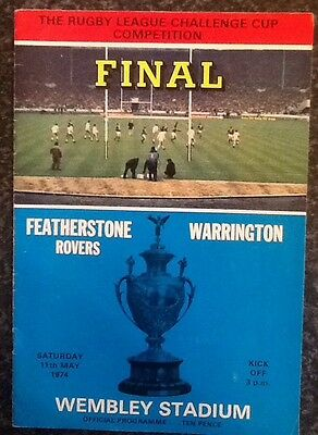 The Rl Challenge Cup Competition 1974 Final Rugby League Programme