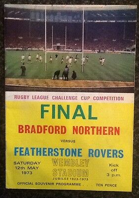 The Rl Challenge Cup Competition 1973 Final Rugby League Programme