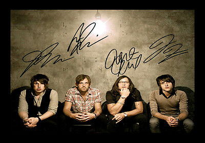 Kings Of Leon Signed Autograph A4 Framed Xmas Gift Present READ DESCRIPTION