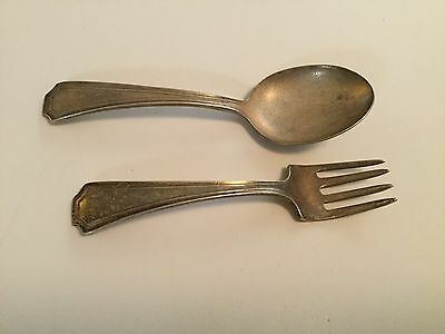 Gorham Sterling Silver Baby Fork & Spoon