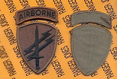 CAPOC Civil Affairs & Psy Ops Cmd Airborne OD Green & Black patch m/e