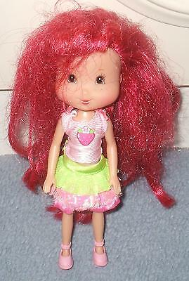 """Unusual Hb Strawberry Shortcake Doll 8"""" Dressed With Shoes"""