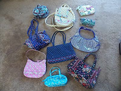 Mixed Lot of 10 Retired Vera Bradley Handbags etc.