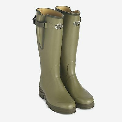 Le Chameau Vierzon Cuir Leather Lined Zip Welly - Size UK 10.5 EU 45