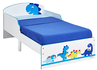 Worlds Apart Dinosaur Kids Toddler Bed, MDF Kids Bed With Dinosaurs HelloHome