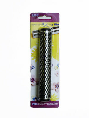 """Rolling Pin Stainless Steel 6"""" with Protective Sleeve for Cake Decorating Icing"""