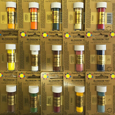 Sugarflair Blossom Tints Edible Cake Decorating Craft Dust 40 COLOURS