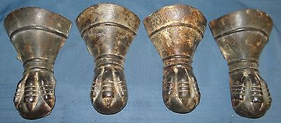 Matching Set Of 4 Antique Victorian Cast Iron Claw-Foot Ball Bathtub Feet B