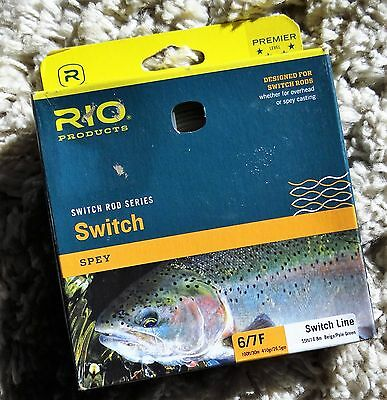 RIO Switch Spey 6/7F - Fly Fishing Line / Beige-Pale Green, 100ft. NEW