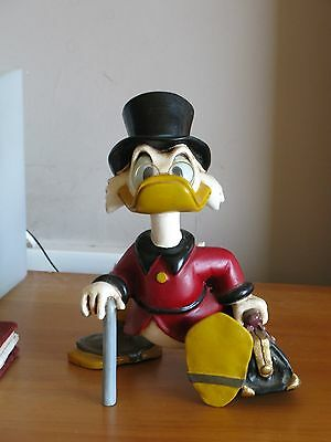 Vintage Disney Scrooge McDuck Large Figure - Rare Collectable Toy