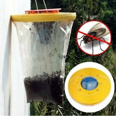 3 x The Ultimate Red Drosophila Fly Trap Top Catcher Fly Wasp Insect Bug Killer