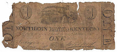 1845 The Northern Bank of Kentucky, Lexington - One Dollar Obsolete Note