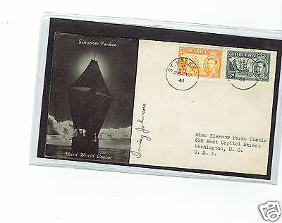 ST HELENA  cover 1941 tall ship
