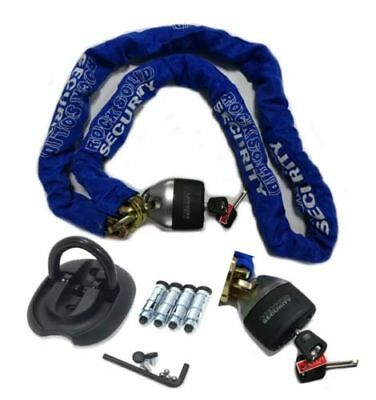 Mororbike Flip Ground/wall Anchor Plus Rs Sabre 1.8M Chain Lock Security Kit New