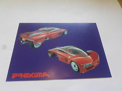Peugeot PROXIMA Concept Car - RARE -Brochure - Great pics MORE...