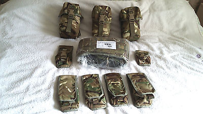 British Army Issue Mtp Webbing+9 Pouches. New.