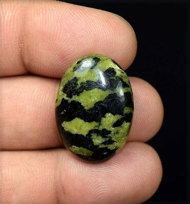 23.60 Cts. 100 % Natural  Canadian Jade  Oval Cabochon Untreated Loose Gemstones