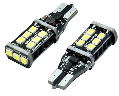 2x T10 CAR CREE BULBS LED ERROR FREE CANBUS 15 SMD WHITE W5W 501 SIDE LIGHTS
