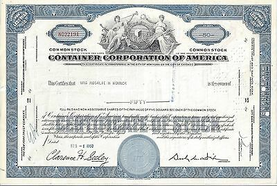 Container Corporation Of America....1960 Stock Certificate