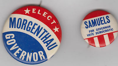 Elect Robert Morgenthau and Howard Samuels Governor buttons