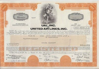 Ual Inc And United Airlines Inc.......debenture Due 2003