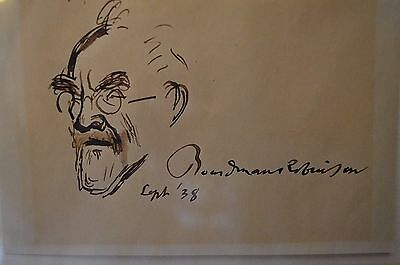 Boardman Robinson Original Self Portrait Drawing Signed Dated