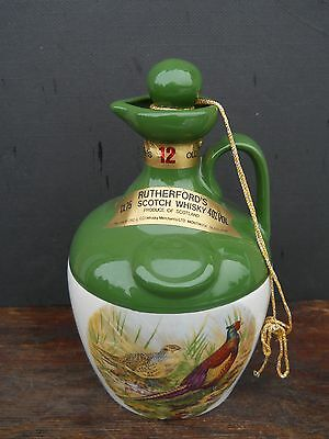 RUTHERFORD'S Scotch Whisky Game Birds Crock.