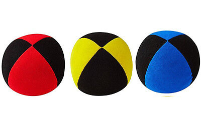 3 X  Henrys Jonglierball Bean Bag Superior medium 67 mm ROT GELB  BLAU - SCHWARZ