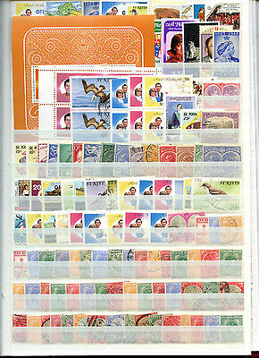 St. Kitts Stockpage Full Of Stamps #B4287