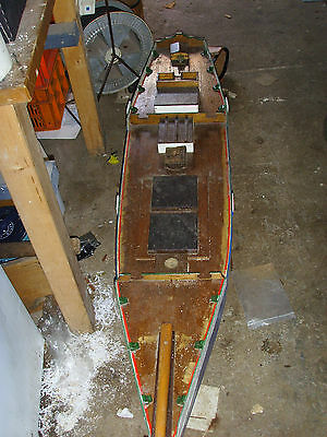 Vintage Wooden Model  Yacht Sailing Ship Hull And Keel