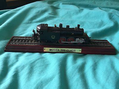 Mucca 500 class steam train model ornament 23 and half cm long