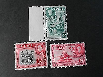 FIJI 3 Various Mint Hinged Stamps