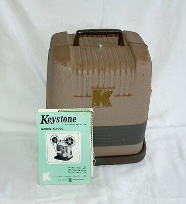 Vintage Keystone Model K-100 8mm Motion Picture Projector with Manual