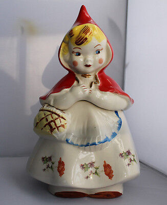 Little Red Riding Hood Cookie Jar Hull 1940