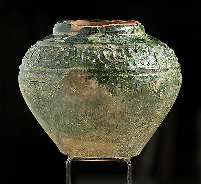 Chinese Han Dynasty Pottery Bowl / Vase With Attractive Decoration