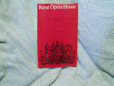 Royal Opera House Theatre Covent Garden Prince Tosca 24Th March 1988 Barn Find