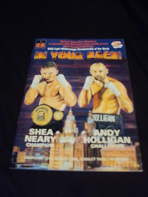 shea neary andy holligan liverpool boxing match 1998 ticket programme signed