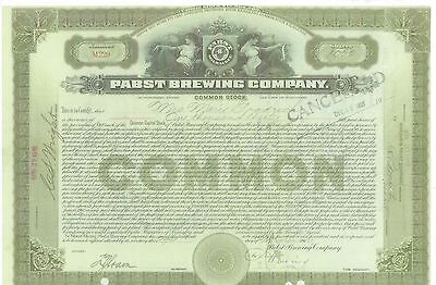 Pabst Brewing Company.......1911 Stock Certificate