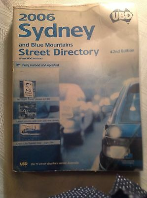 UBD 2006 Sydney And Blue Mountains Street Directory 42nd Editio