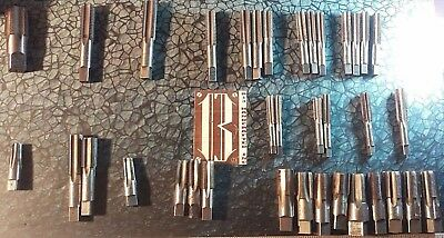 USED Set of 36 NPT Taps 16 seperate sizes