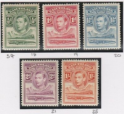 Basutoland stamps 1938 King George VI 1/2- 2d & 1s MH  SG 18-21 & 25