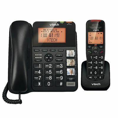 Vtech Dect Corded Cordless Phone System Combo Pack Handsfree+Answer Machine Sys