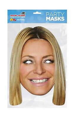 Holly Willoughby Face Party Mask Card A4 Fancy Dress TV Presenter Ladies Kids